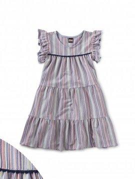 Tea Collection Cloud Tassel Trim Tiered Dress