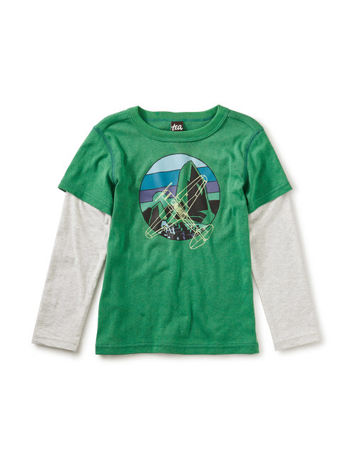 Tea Collection Cleared for Takeoff Layered Tee