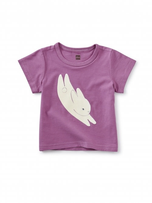 Tea Collection Bitty Bunny Flocked Graphic Tee