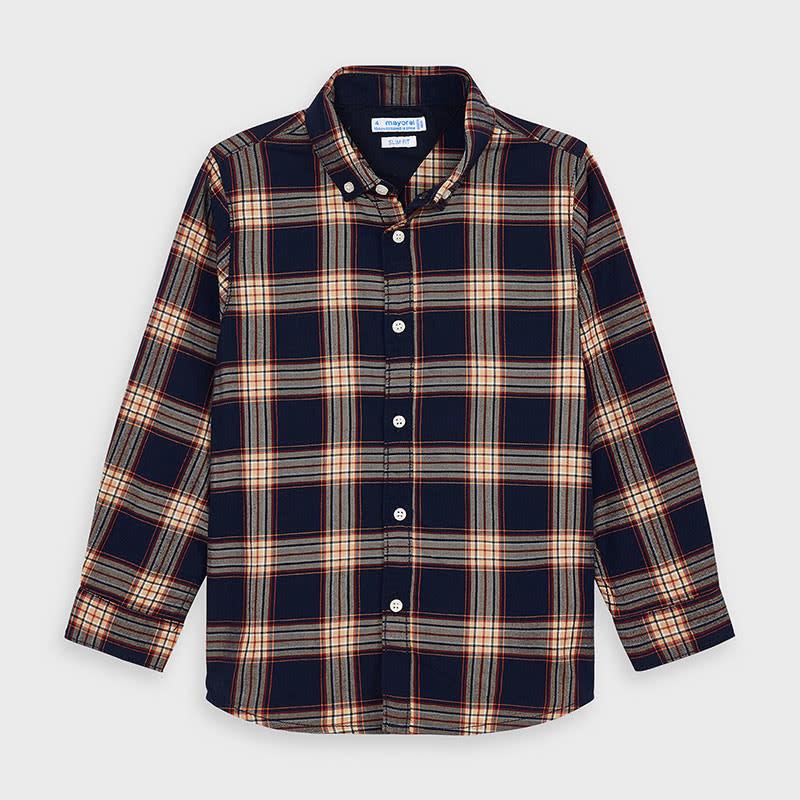 Mayoral Plaid L/S Shirt