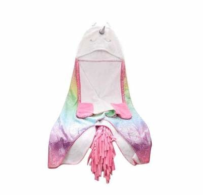 Lola & the Boys Rainbow Unicorn Cape Blanket
