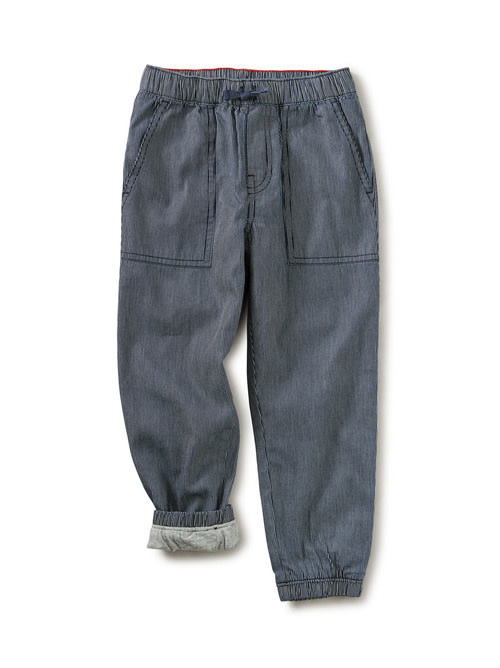 Tea Collection Railroad Lined Jogger
