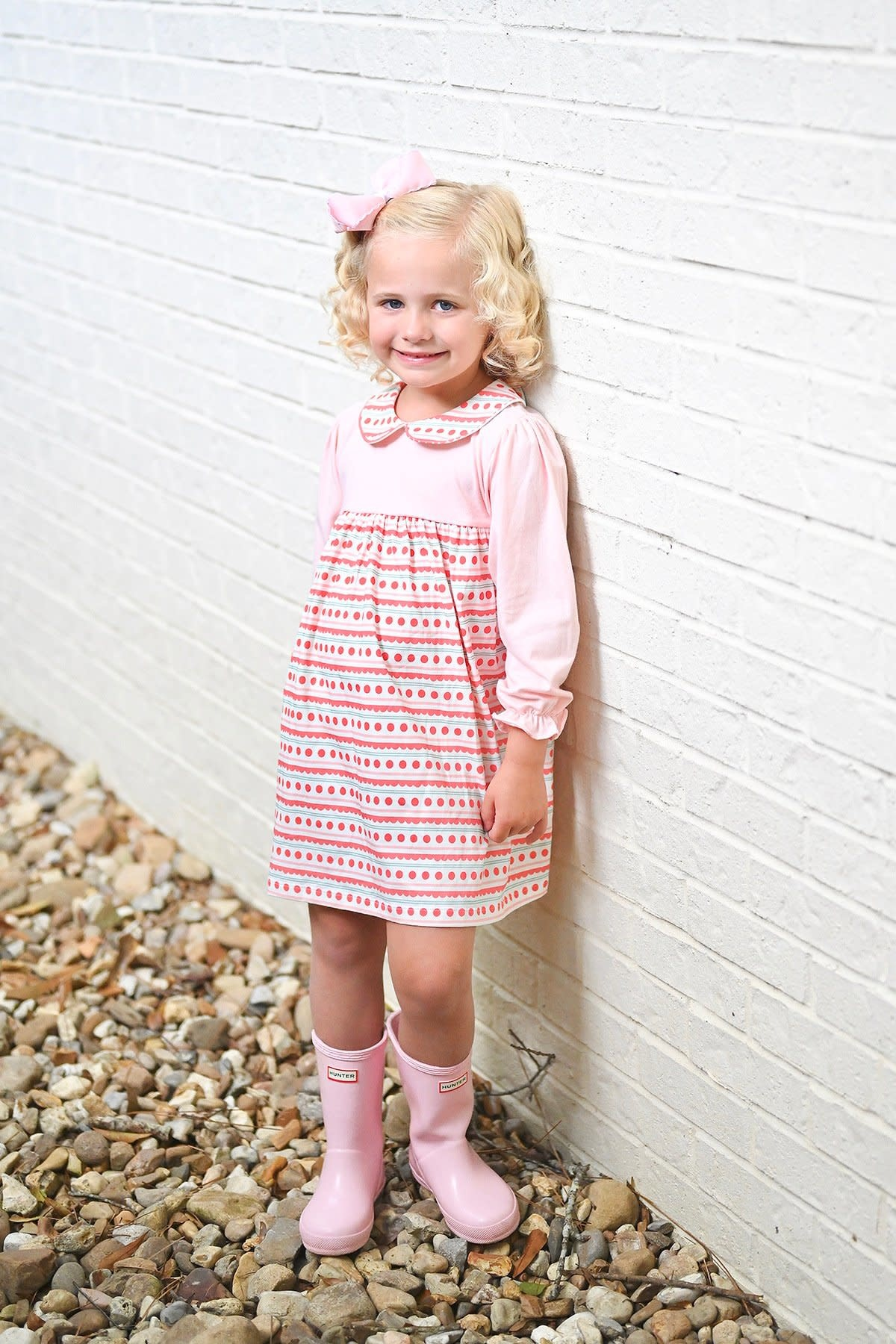 James and Lottie Sally Scalloped Knit Dress