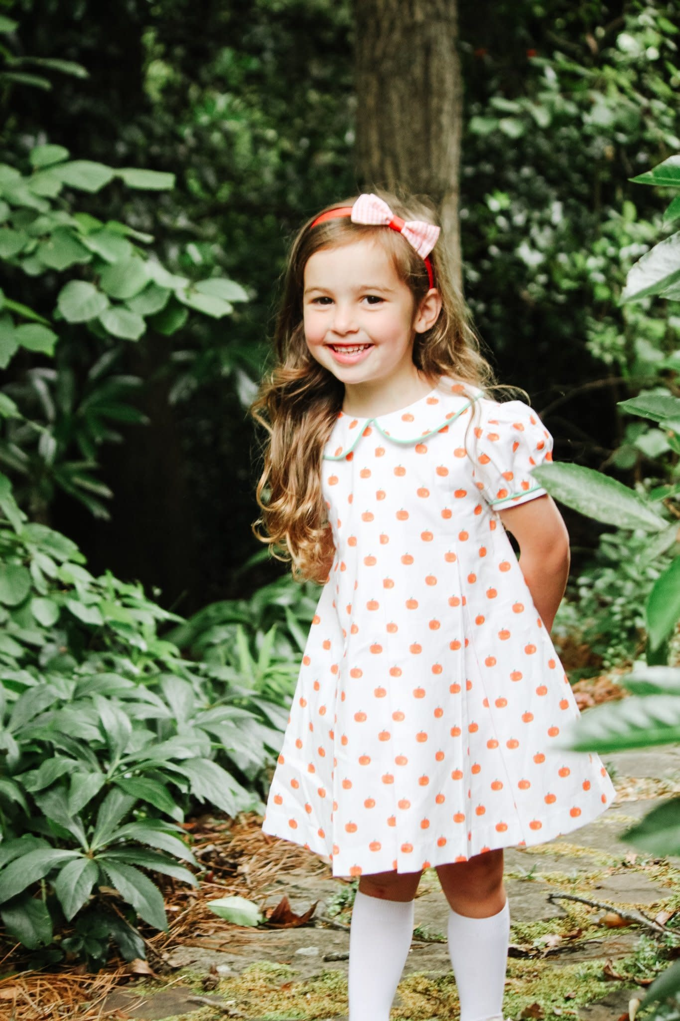 James and Lottie Penny Pumpkin Pleat Dress
