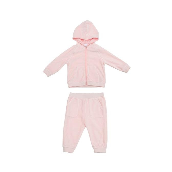 Angel Dear Pink Velour Jogging Suit