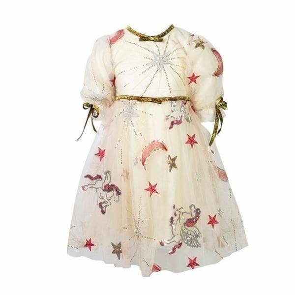 Lola & the Boys Golden Star Party Dress