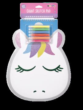 Iscream Giant Unicorn Sketch Book