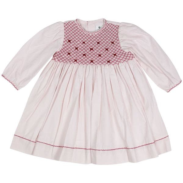 Korango Pink Smocked Dress