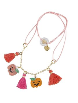 lilies&roses Pumpkin Glitter Necklace