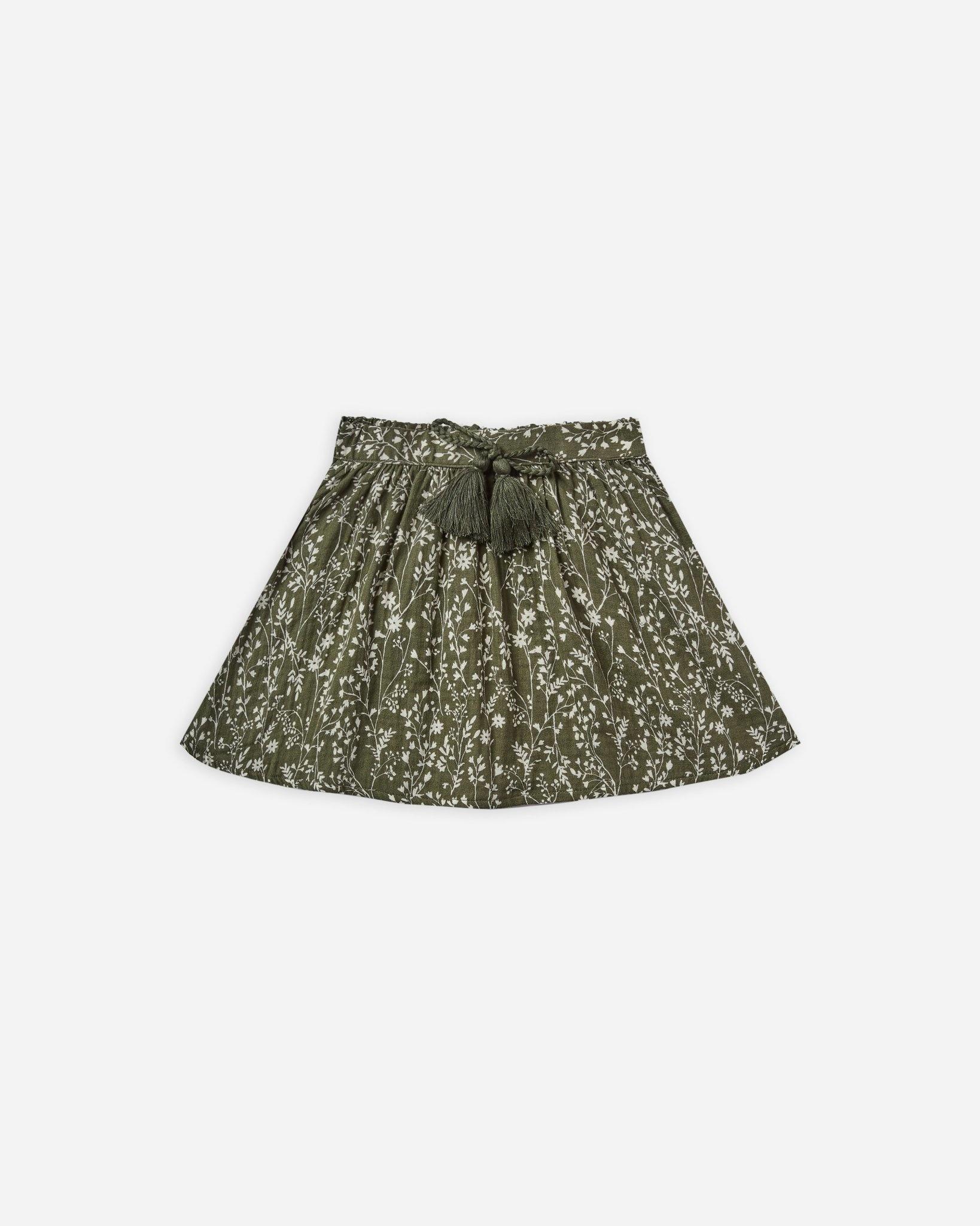 Rylee & Cru Forest Vines Mini Skirt