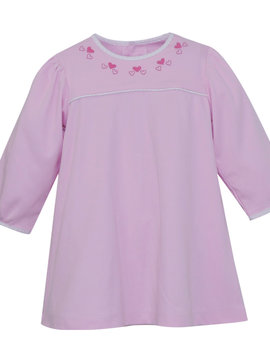 Lullaby Set Heart Embroidered Tunic Top