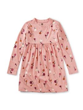 Tea Collection Chiquita Flora Wrap Neck Dress