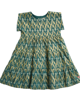 Pink Chicken Teal Jacquard Peachy Dress