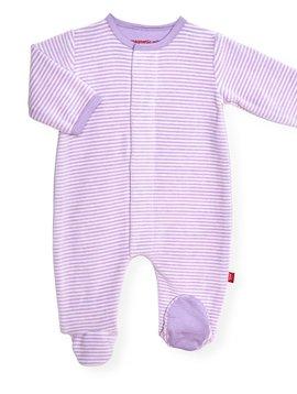 Magnificent Baby Stripe Velour Footie