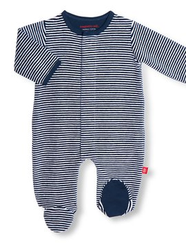 Magnificent Baby Stripe Velour Footie