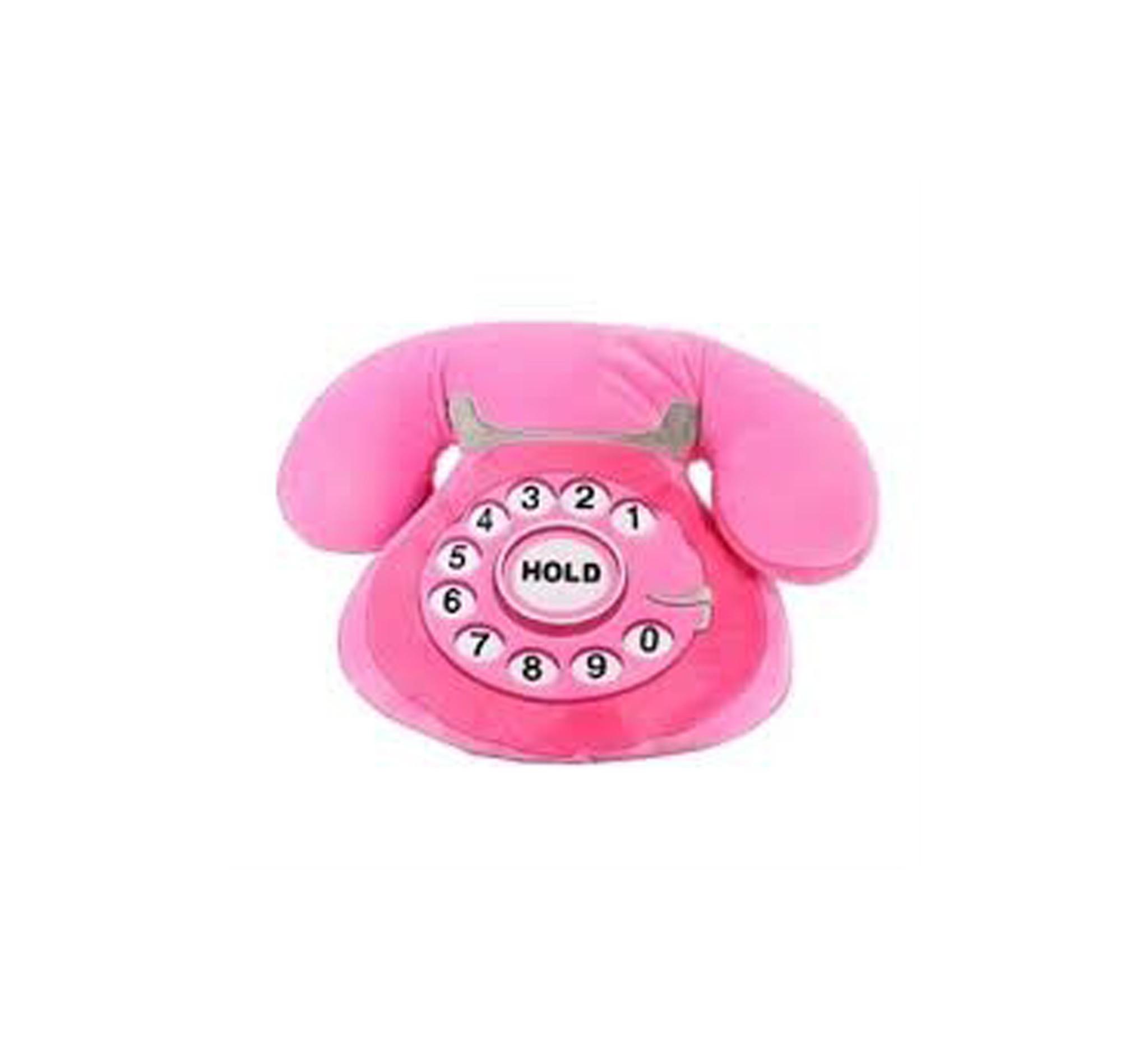 Iscream Telephone Fleece Pillow