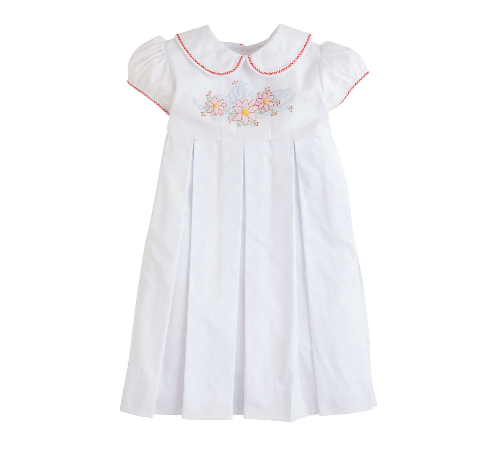 Little English Poinsettia Charlotte Dress