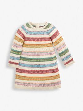 JoJo Maman Bebe Stripe Fair Isle Dress