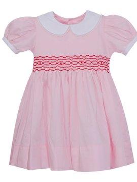Lullaby Set Pink/Red Smocked Memory Dress