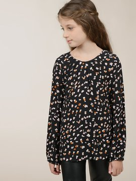 Mini Molly Spotted Pleat Blouse
