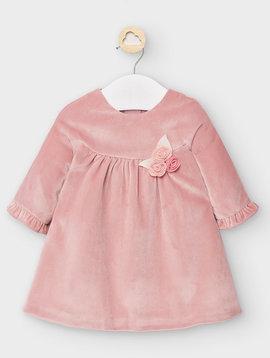 Mayoral Candy Pink Velvet Dress