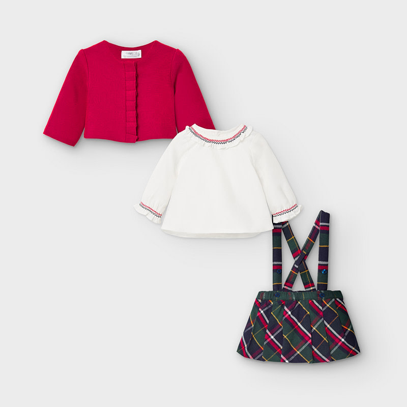 Mayoral Skirt Set with Cardigan