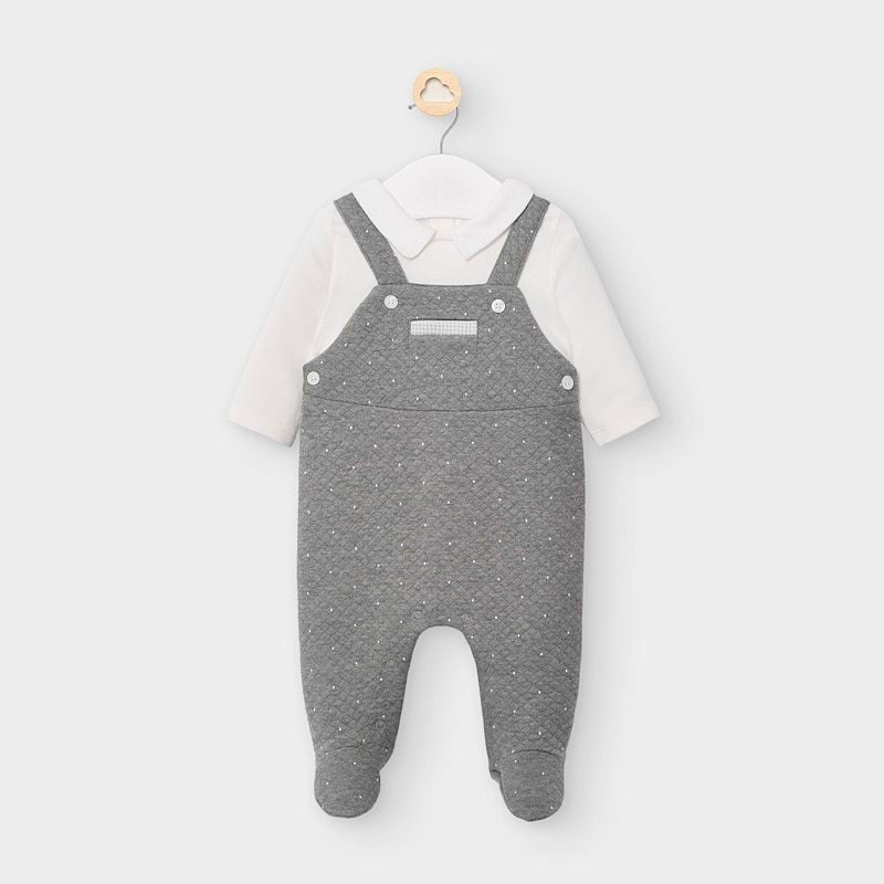Mayoral Grey Overall Onesie