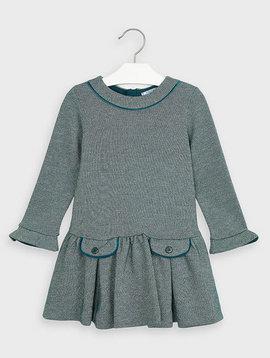 Mayoral Green Lurex Dress