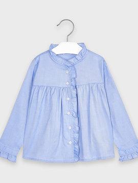 Mayoral Blue Ruffled Shirt