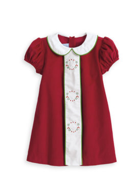 Bella Bliss Embroidered Wreath Dress