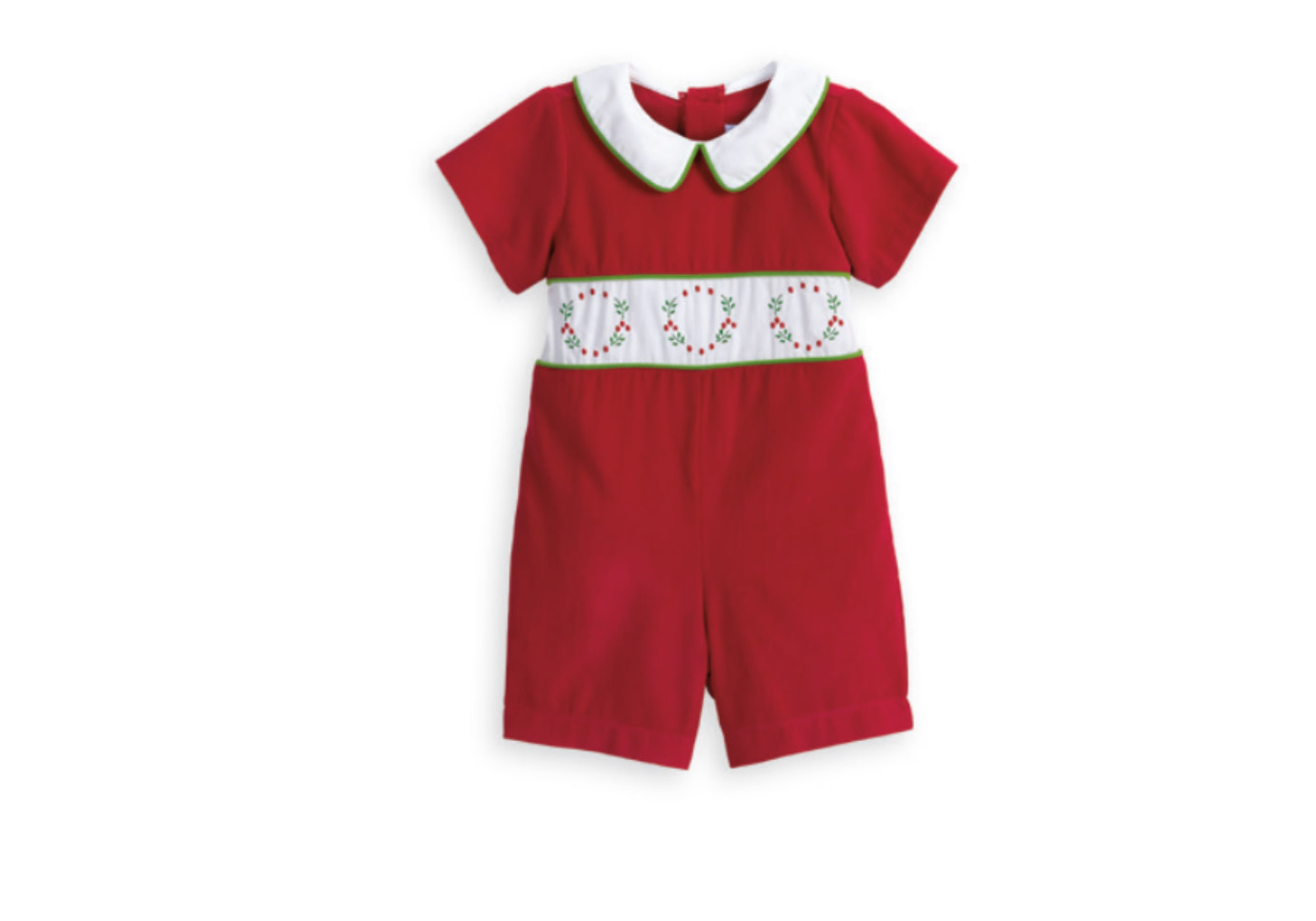 Bella Bliss Embroidered Wreath Romper