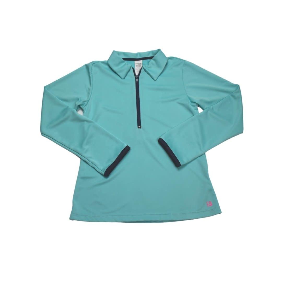 Set Fashions Teal/Navy Heather Half Zip