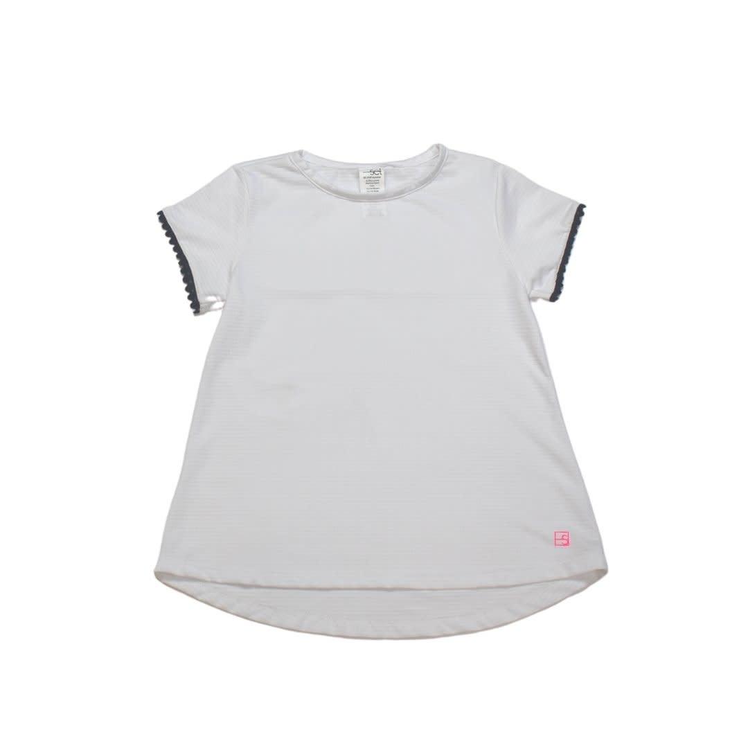 Set Fashions White/Navy Bridget Basic T