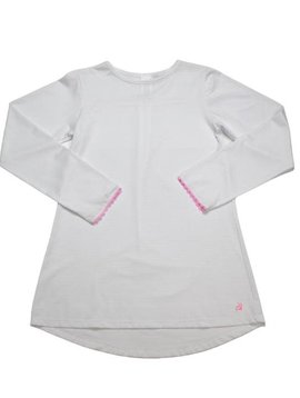 Set Fashions White/Pink Lindsay Long T