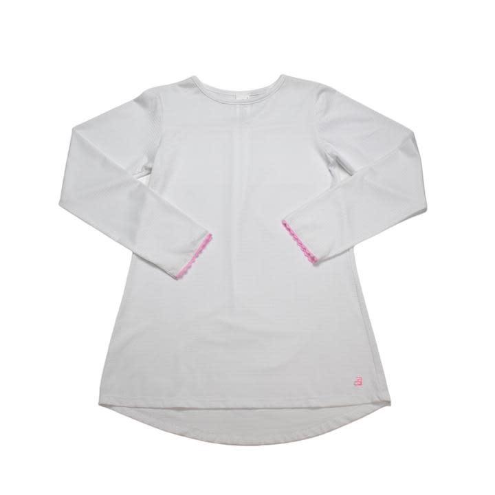 Set Fashions White/Pink Lindsay Long T