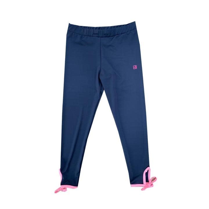 Set Fashions Navy/Pink Avery Legging