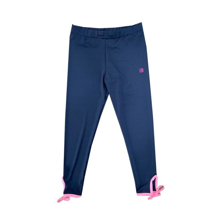 Set Fashions Navy/Pink Avery Legging