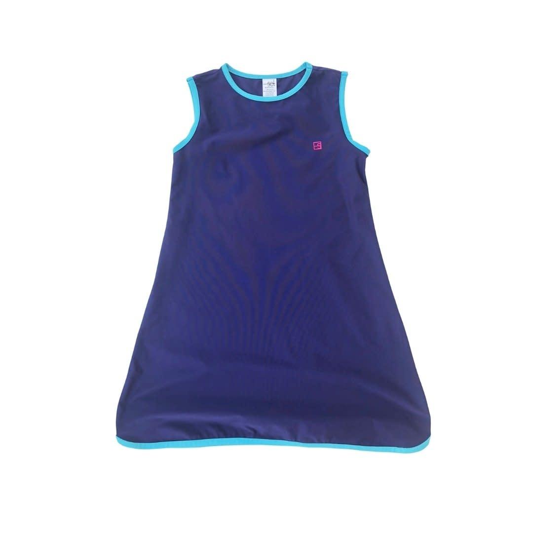 Set Fashions Navy/Teal Tinsley Tennis Dress