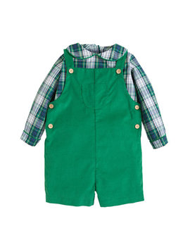 Little English Kentucky Tartan Shortall Set