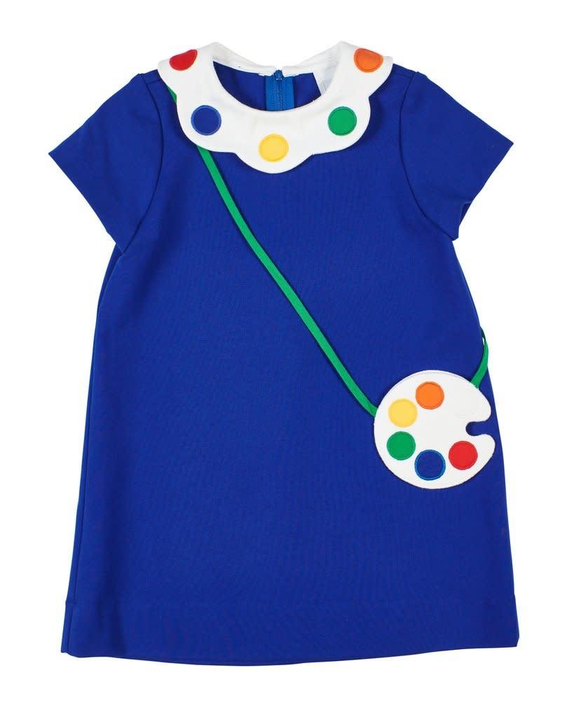 Florence Eiseman Paint Palette Dress w/ Purse