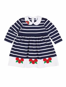 Florence Eiseman Navy Stripe Knit Dress