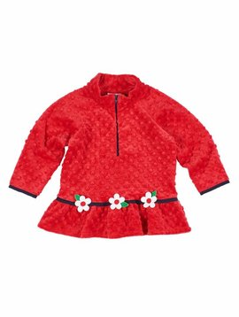 Florence Eiseman Dimple Fleece Half Zip Top