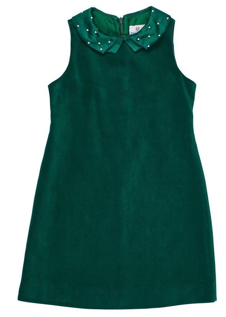 Florence Eiseman Pearl Collar Velvet Dress