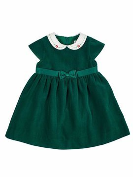 Florence Eiseman Green Velvet Waist Dress