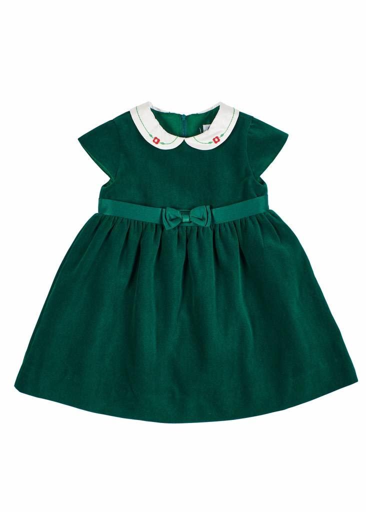 Florence Eiseman Green Velvet Waist Dress