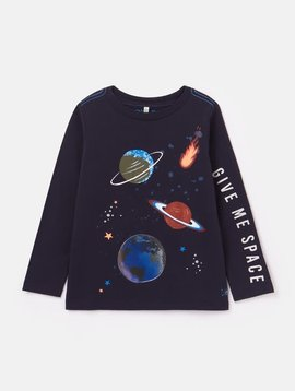 Joules Navy Space Lenticular Tee