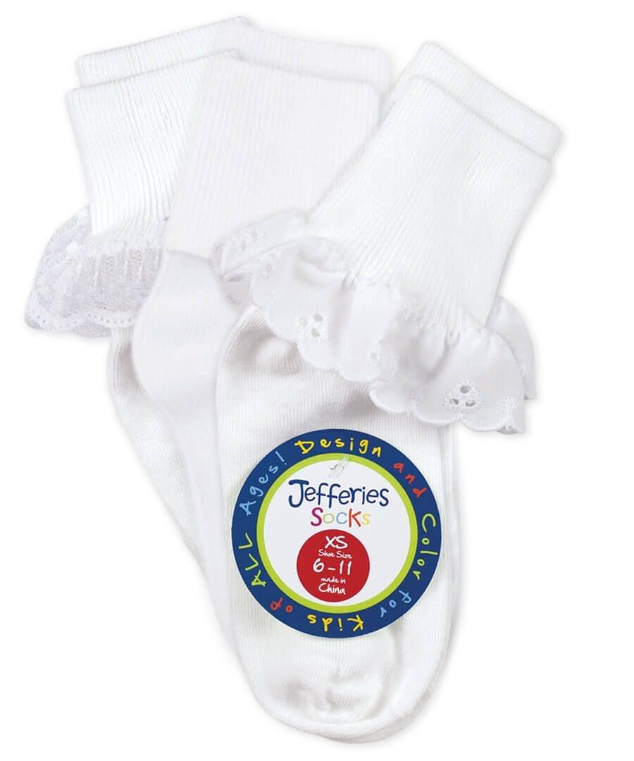 Jefferies Socks Eyelet/Turndown/Lace 3 Pack