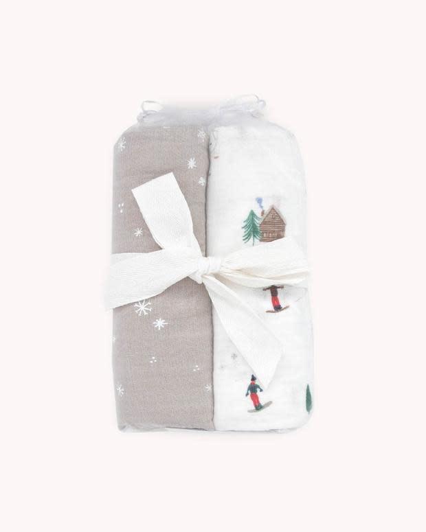 Little Unicorn Muslin Swaddle 2 Pack