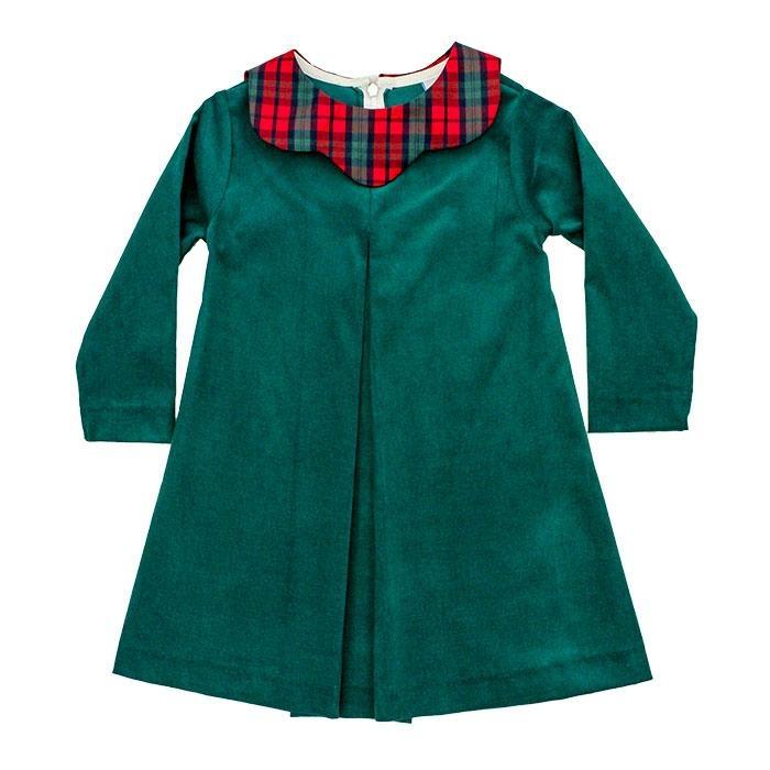 Bailey Boys December Plaid/Clover Cord Dress