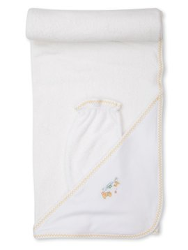 Kissy Kissy Dilly Dally Duckies Hooded Towel w/mitt
